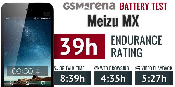 تست باتری گوشی Meizu MX