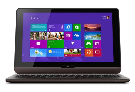 باریک ترین لپ تاپ جهان با قابلیت تبدیل شدن به تبلت !