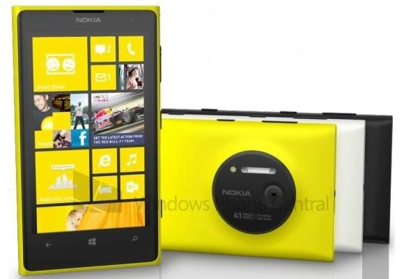 عکس لیک شده از Lumia 1020 سه رنگ متفاوت این گوشی را نشان می دهد