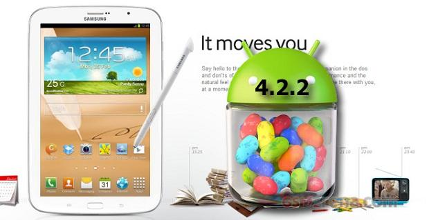 به روز رسانی اندروید 4.2.2 برای Galaxy Note 8