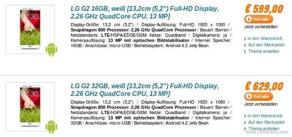 LG G2 قیمت خورد