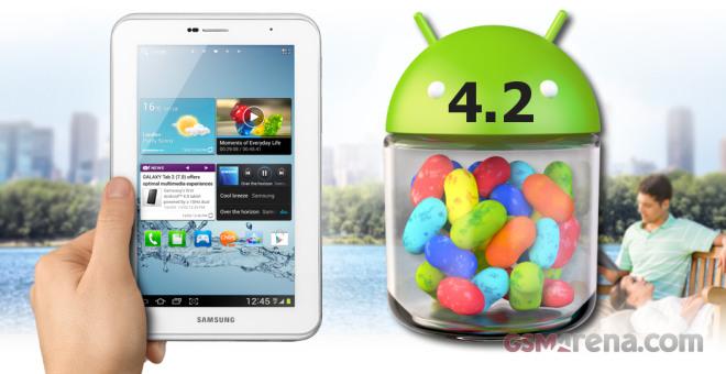 Samsung Galaxy Tab 2 7.0 آپدیت اندروید 4.2 جلی بین را دریافت کرد