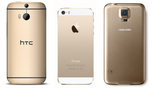 Gold-smartphones