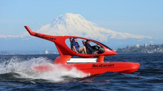 یک قایق هلی کوپتری با توانایی راندن در آب های مواج(Helicat)