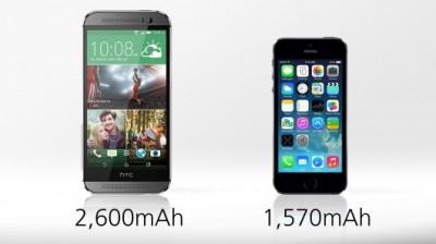 مقایسه کامل HTC One M8 و Iphone 5s به صورت تصویری