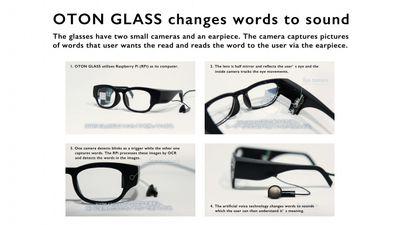 تبدیل متن به صدا توسط عینک هوشمند برای نابینایان و کمبینایان