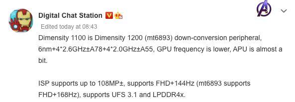 MediaTek-Dimensity-1100-Leak