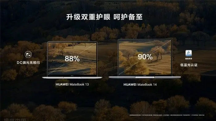 نمایشگرهای هواوی میت بوک 13 و 14 نسخه 2021