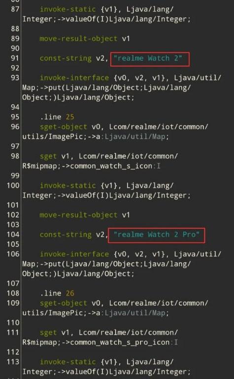 اشاره کد منبع ریلمی لینک به ریلمی واچ S