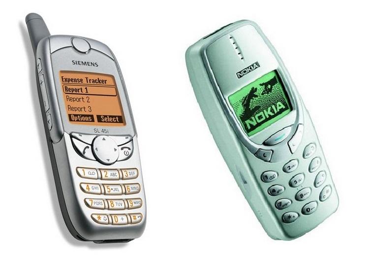 Siemens SL45i & Nokia 3410