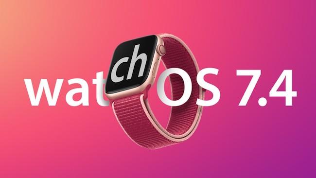 اپل واچ او اس ۷.۴