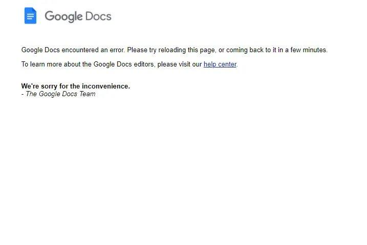 مشکلات سرویسهای گوگل