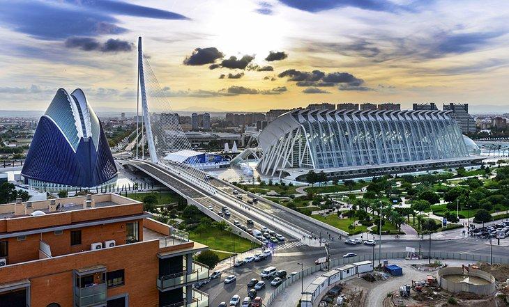 شهر علوم و هنر والنسیا (Ciudad de las Artes y las Ciencias)
