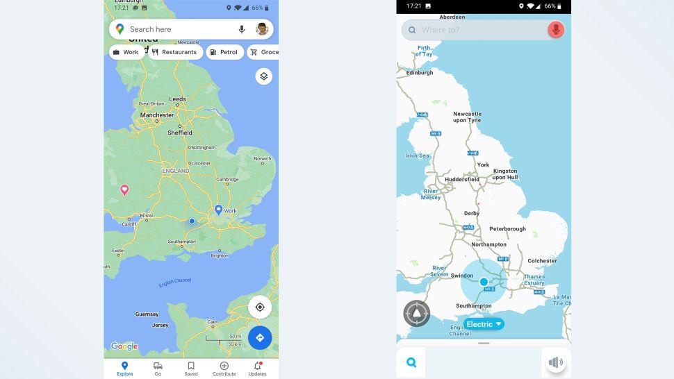 مقایسه گوگل مپس و ویز: در دسترس بودن