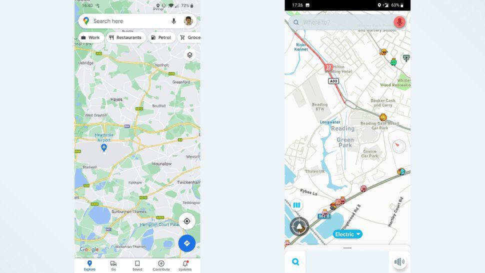 مقایسه گوگل مپس و ویز: طراحی و رابط کاربری