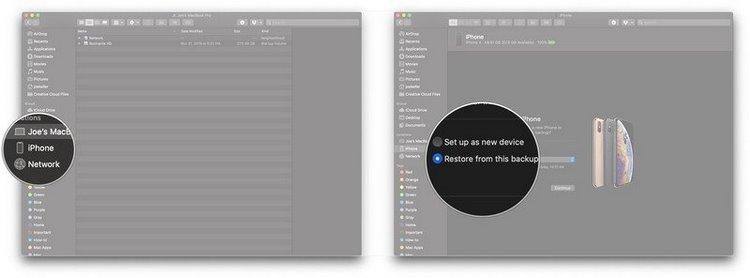 نحوهی انقال اطلاعات به آیفون در محیط اپل