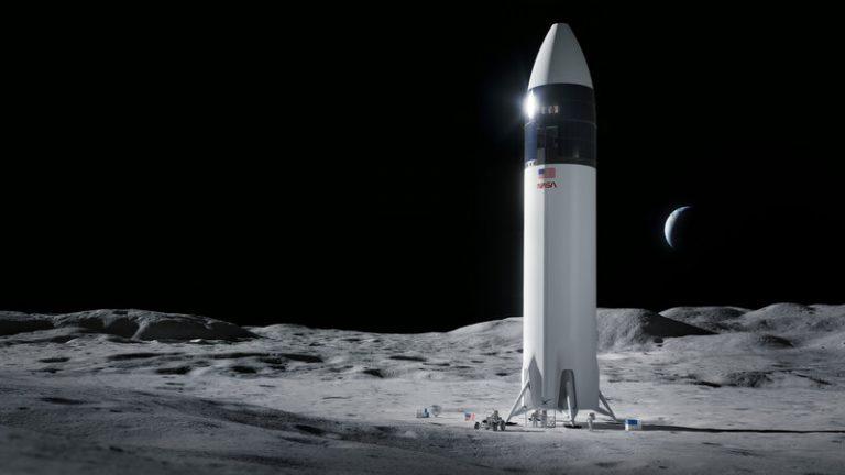فضاپیمای ماه اسپیس ایکس و ناسا