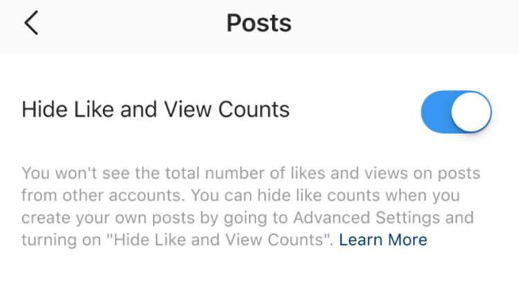 نحوهی مخفی کردن لایکها در پستهای اینستاگرام