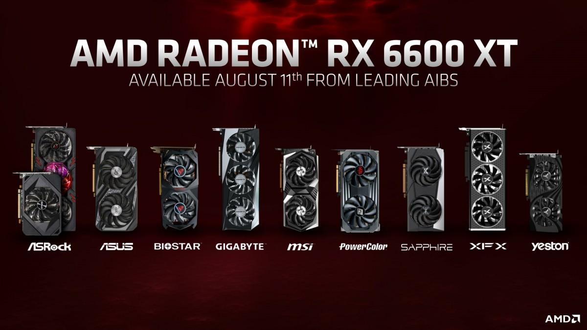 کارت گرافیکی Radeon RX 6600XT