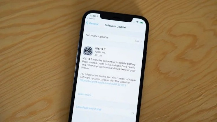 به روزرسانی iOS 14.7