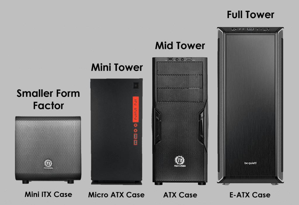 سایزهای متفاوت کیس کامپیوتر