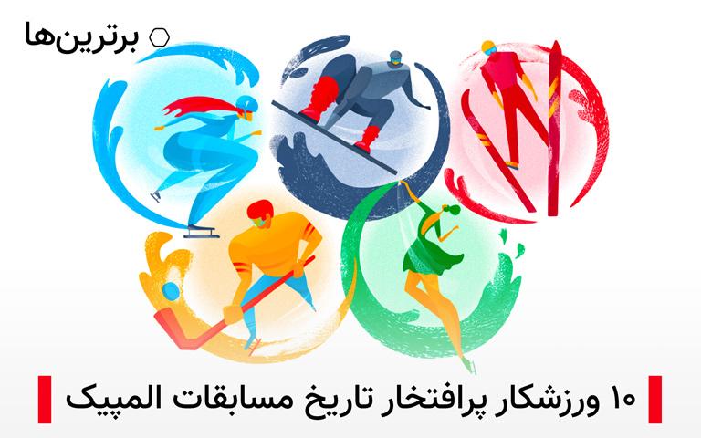 ۱۰ ورزشکار پرافتخار تاریخ المپیک