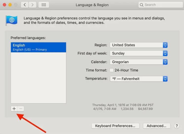 آموزش تغییر زبان در مک او اس اپل