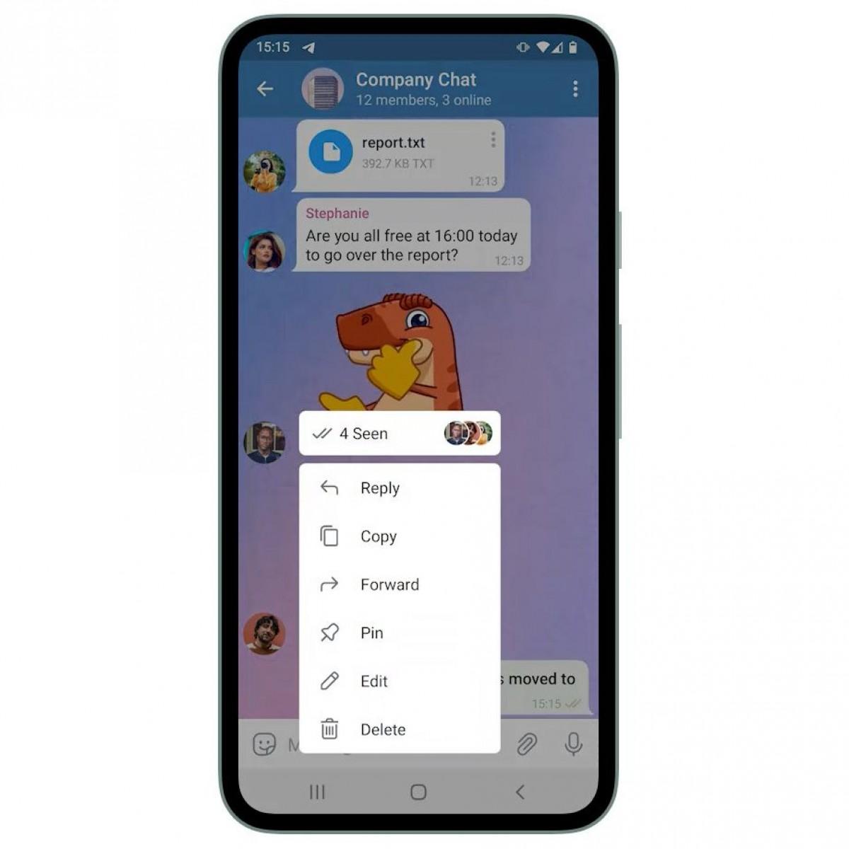 بهروزرسانی جدید تلگرام