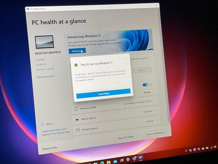 دانلود اپلیکیشن نرم افزار PC Health Check ویندوز ۱۱