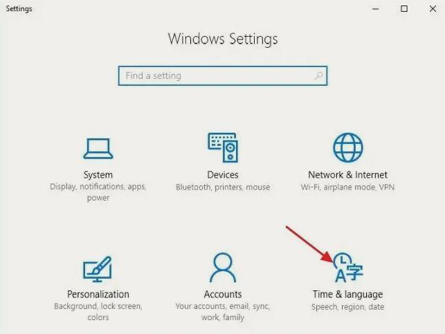 آموزش تغییر زبان در ویندوز